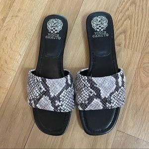 Snakeskin Slide Sandal